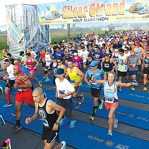 The 5K starts and finishes at Imperial Beach Pier Plaza