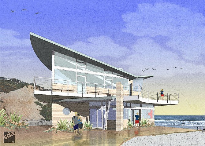 Rendering of Marine Safety Center by Stephen Dalton Architects
