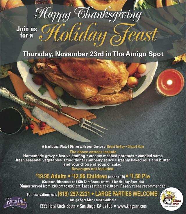 Thanksgiving at Kings Inn San Diego