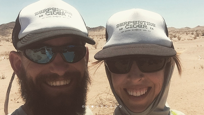 It happened in the desert one day. Sean Harris and Lish Omlid.