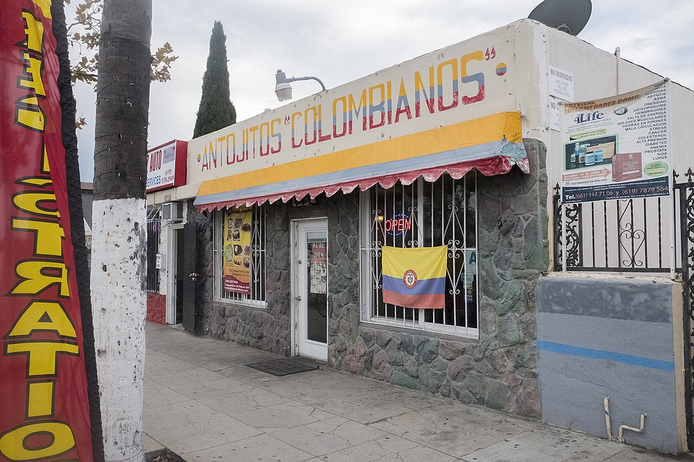 A small storefront repping Colombian cuisine on the border of Logan Heights.