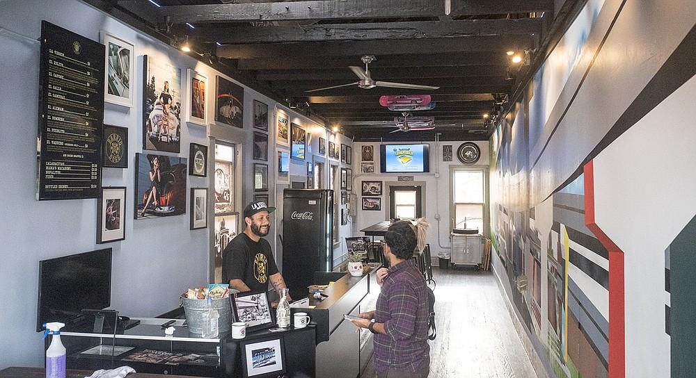 A lowrider art gallery in Barrio Logan