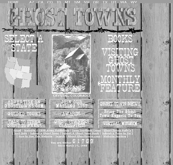 Ghosttowns website. Decline and ruin are common occurrences treated with a Darwinian detachment.
