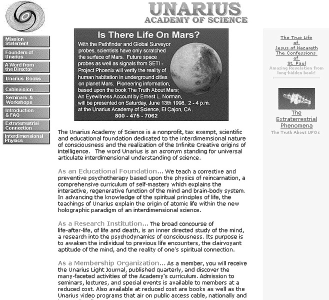 Unarius site. Preparing for the landing of a Pleiadean starship.