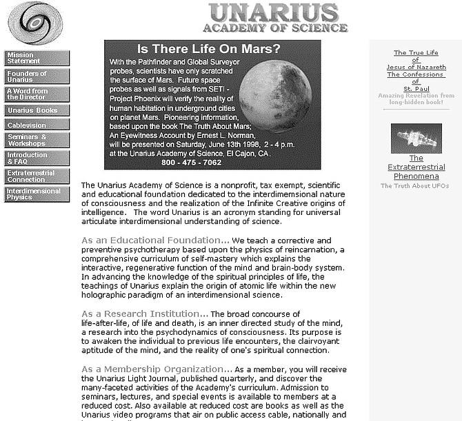 Unarius site. Preparing for the landing of a Pleiadean starship.
