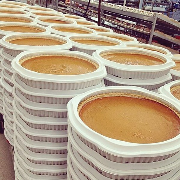Pumpkin pies at Costco