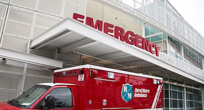 """UCSD Emergency Department.  """"If the bleeding gets too heavy, you should probably go to the hospital."""""""