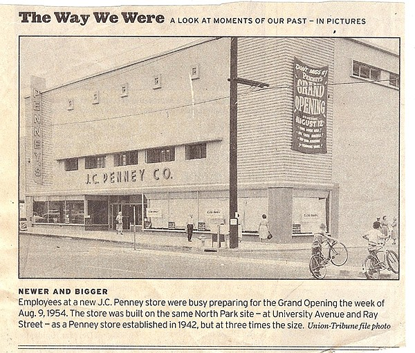 In 1954, JCPenney reopened in a much bigger space than their original store at the same site.