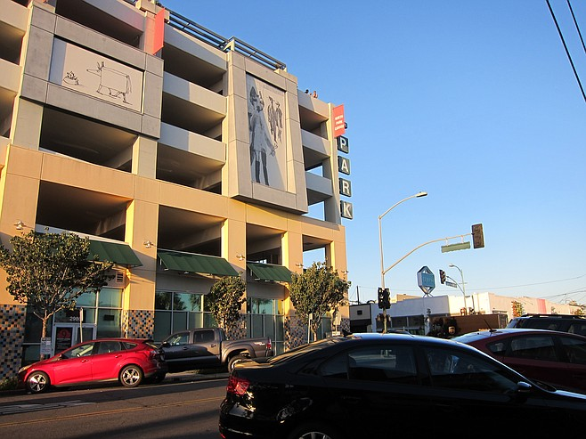 North Park parking garage, one block north of the planned store
