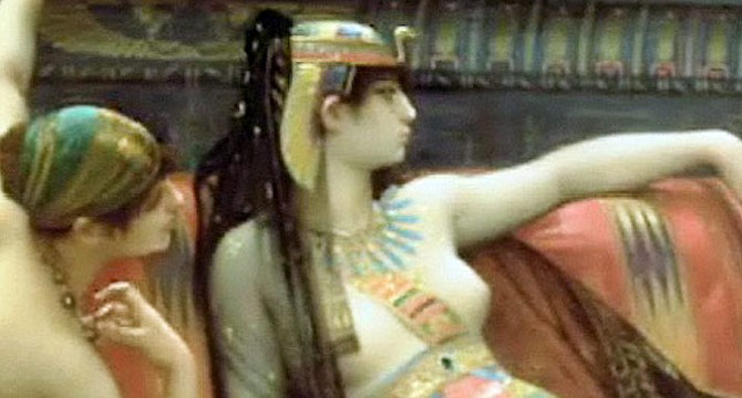 I pictured myself carried aloft on a golden litter, not unlike Cleopatra.