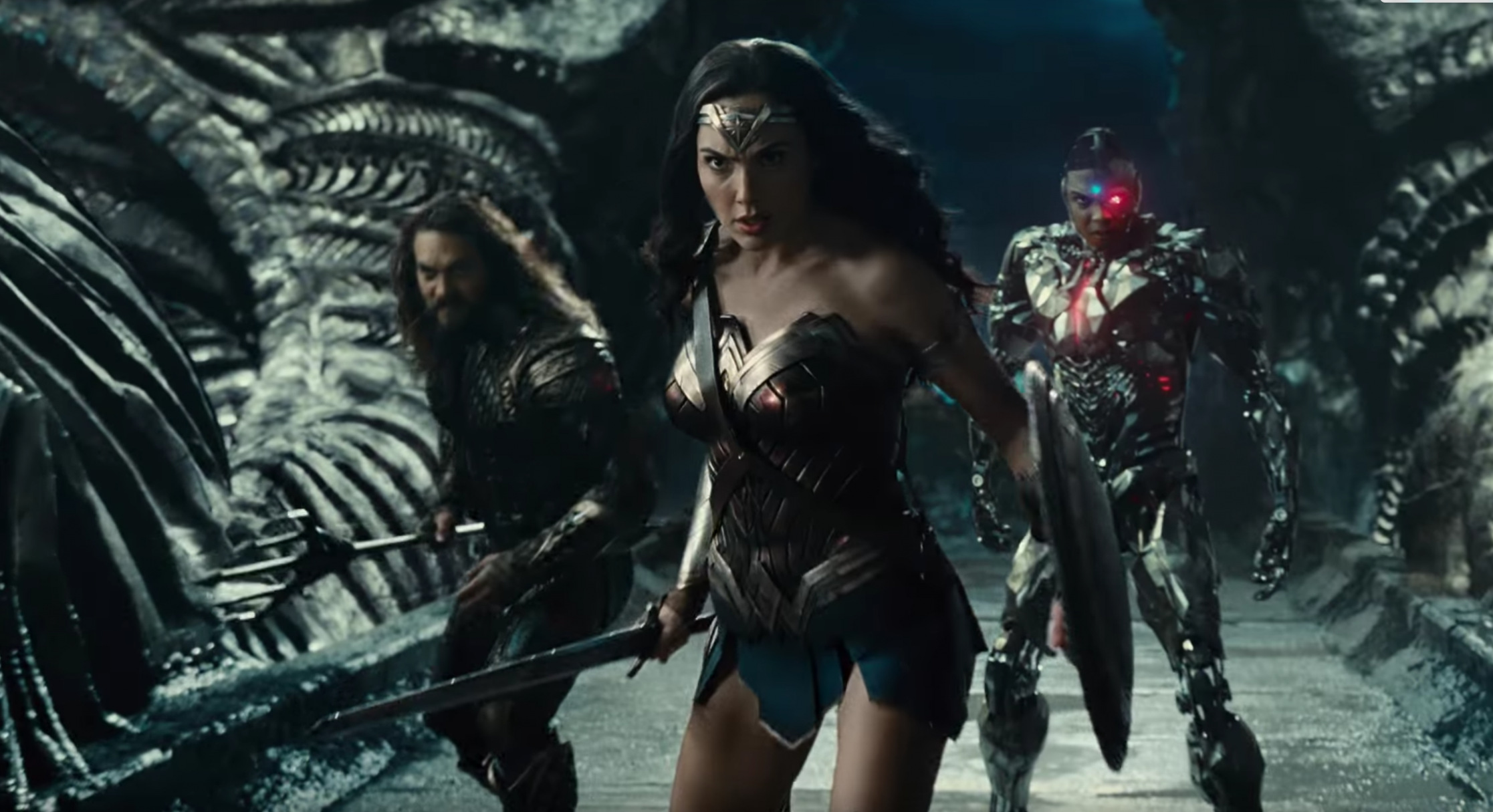 "Justice League: ""Guys, is it me, or did our superhero movie somehow wind up on the set of Alien?"""