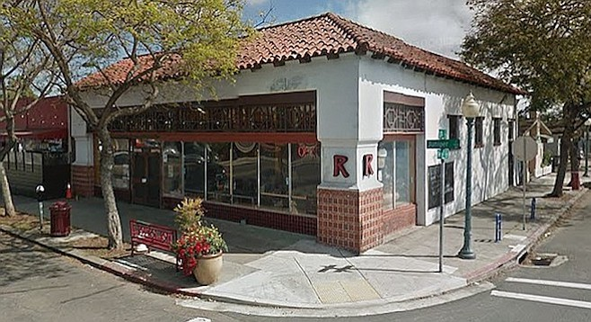 Rebecca's Coffeehouse, corner of Juniper and Fern streets