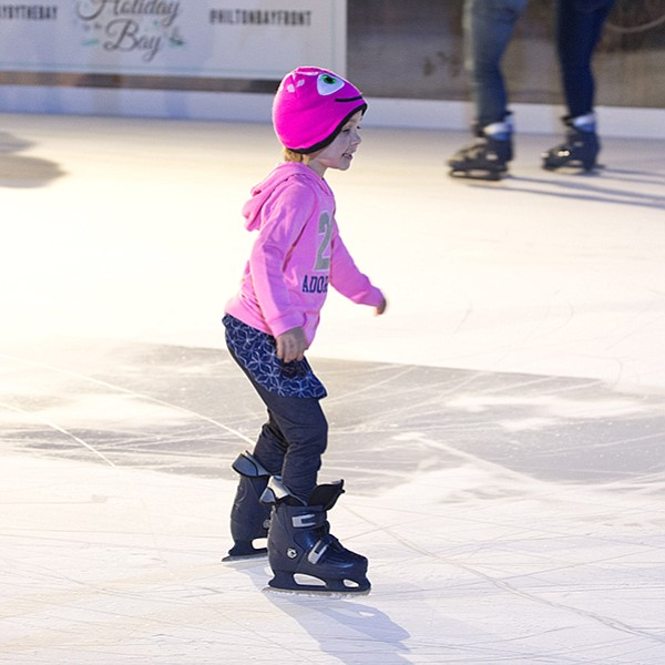 Skate at the downtown Hilton's outdoor ice rink