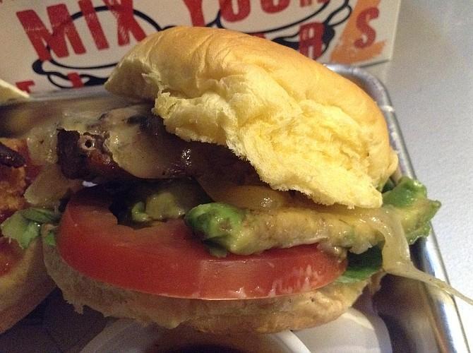 California-style lamb burger