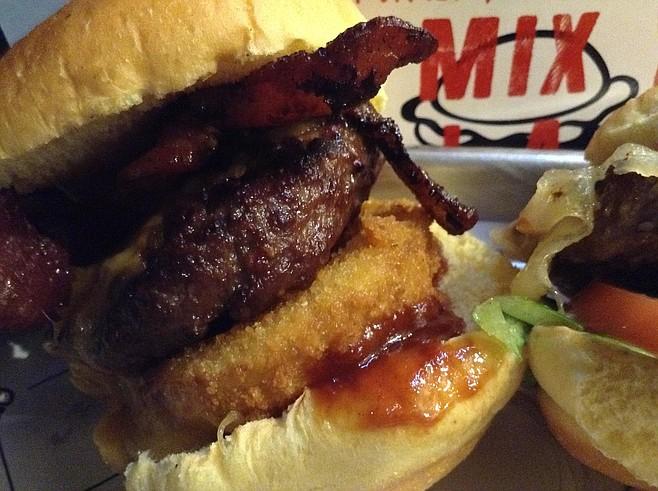 Merguez sausage burger, cowboy-style