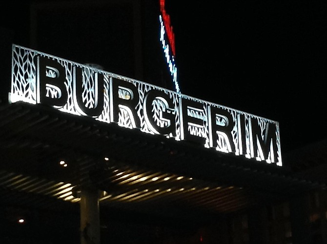 """New sign in Horton Plaza means """"Many Burgers."""""""