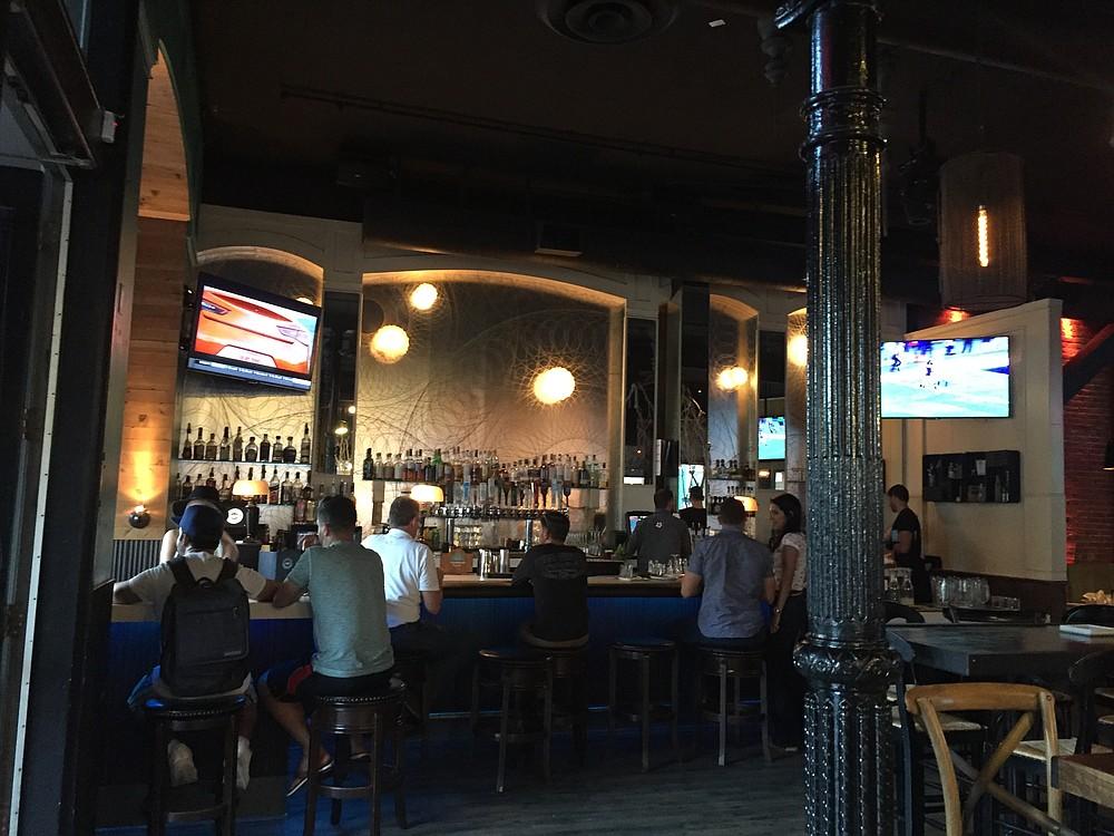 The bar at Florent.