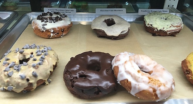 Gourmet doughnuts mean gourmet prices. A dozen at Nomad costs around $30.