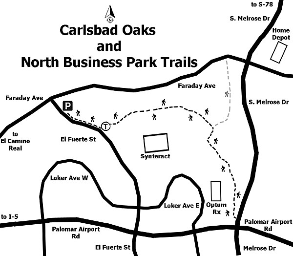 The Oaks Trail is a nearly flat, dirt service access road.