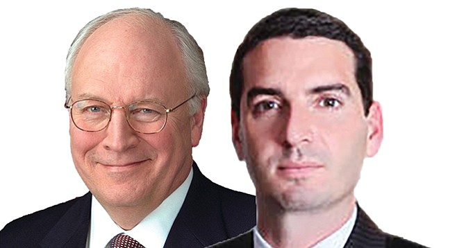 Dick Cheney (left) aide Joe Leventhal (right) found his way onto the city's ethics board, thanks to an appointment by Mayor Faulconer.