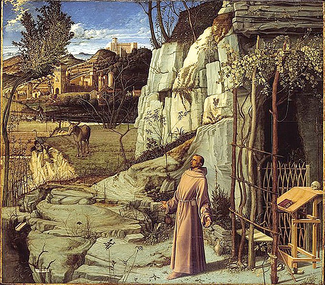 Bellini's St. Francis in the Desert. New Yorkers go to the Frick to stand with practiced reverence before it.