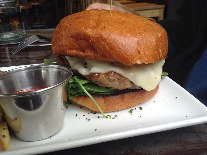 Turkey burger — big, but so it should be for $17.