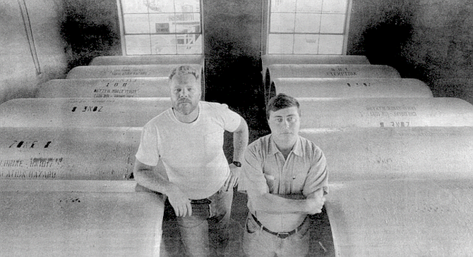 """Bill Holman and Owen Evans. Evans: """"We have usually at least 20 tons of chlorine on site at all these three facilities."""" - Image by Joe Klein"""