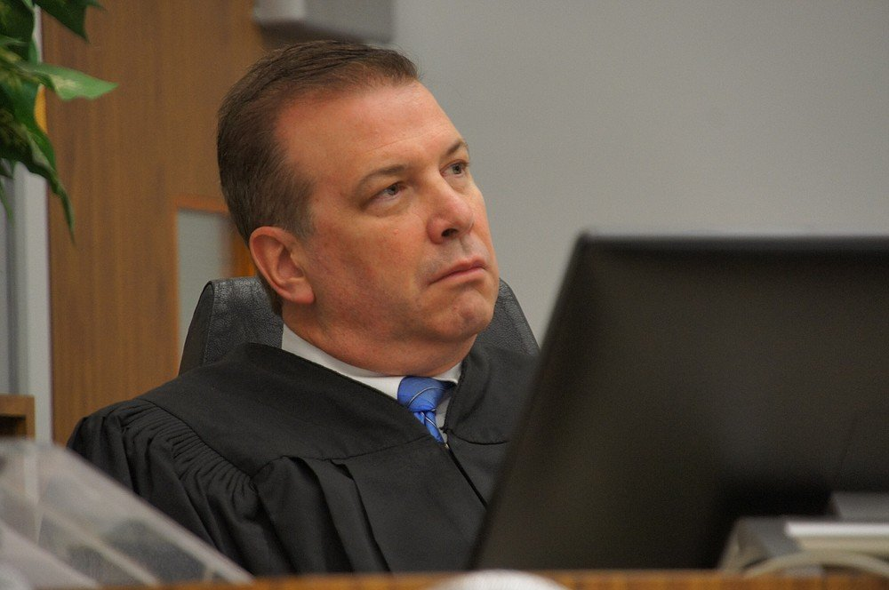 Judge Blaine Bowman listening to victims' impact statements