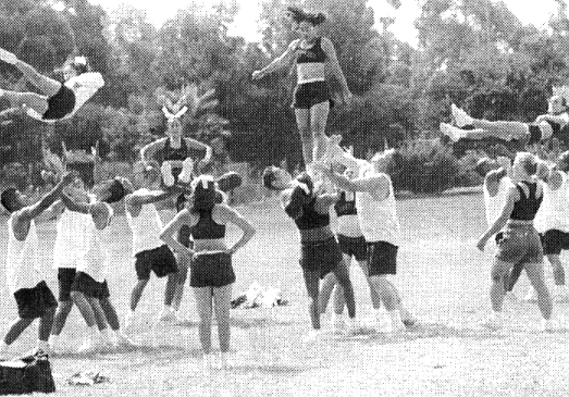 Eastlake High. Two girls said their early role models were the Dallas Cowboy Cheerleaders.