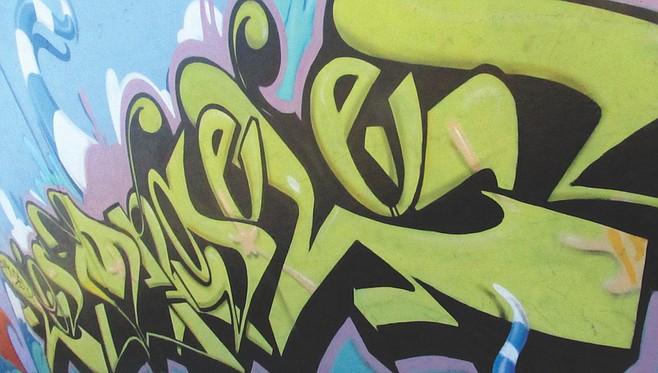 Graffiti mural in Eastside.