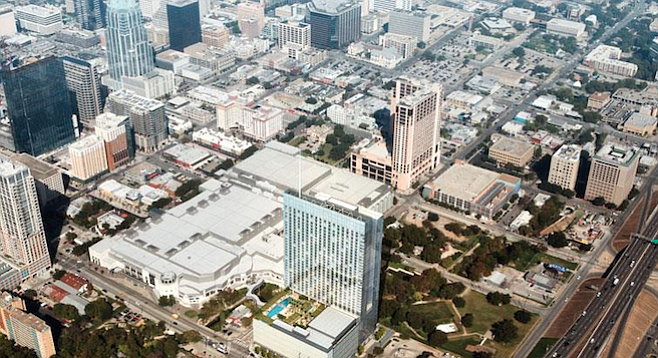 The Fairmont Austin hotel was close to completion before the latest setback