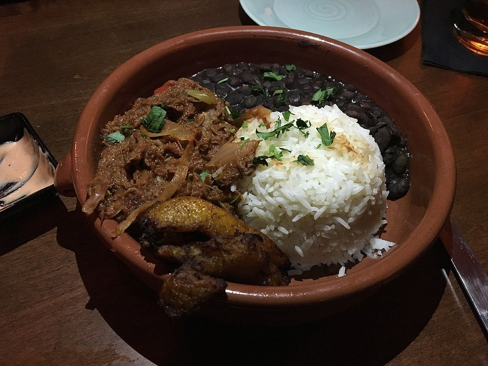 The Ropa Vieja at Havana 1920: Meat, peppers and onions stewed in a tomato sauce.