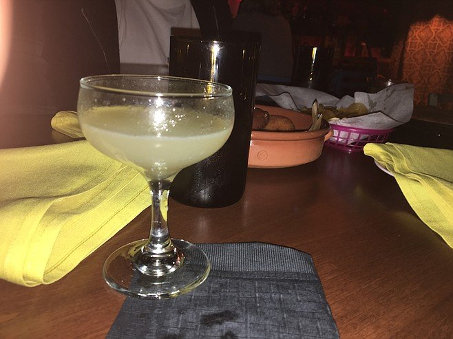 The Daiquiri is tart and limey and can be served on the rocks or, in this case, up.