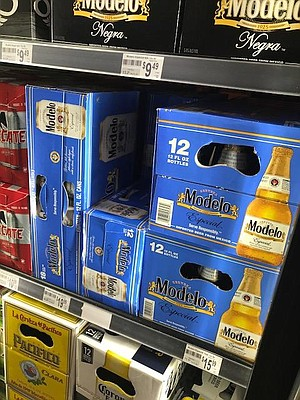 The 18-packs of 12-ounce Modelos are most desired.