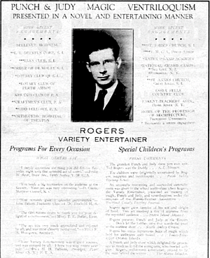 Poster made when Graham-Rogers was entertainer.