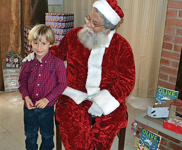 Santa at Helen Woodward Frosty Farm