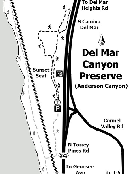 Del Mar Canyon Preserve/Anderson Canyon. No significant elevation gain.