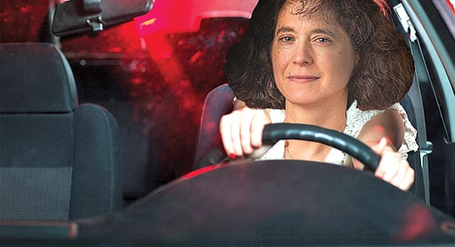 UCSD executive vice chancellor Elizabeth Simmons takes the United Auto Workers for a spin.
