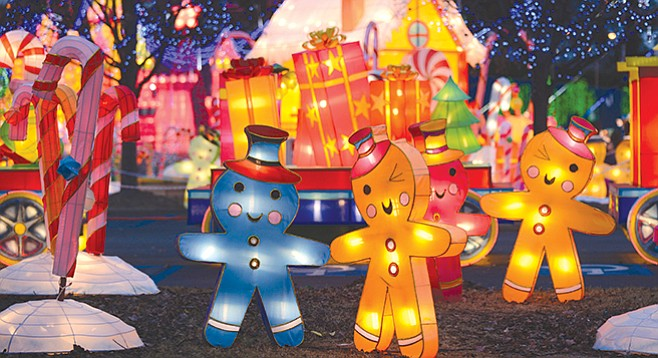 Artisans transformed the SDCCU Stadium lot into Global Winter Wonderland celebrating holidays from around the world.