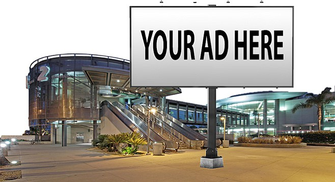San Diego's airport authority looks to squeeze ad revenue from all surface areas.