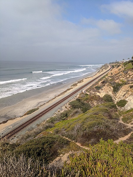 From the bluff top, there is access to Torrey Pines State Beach.