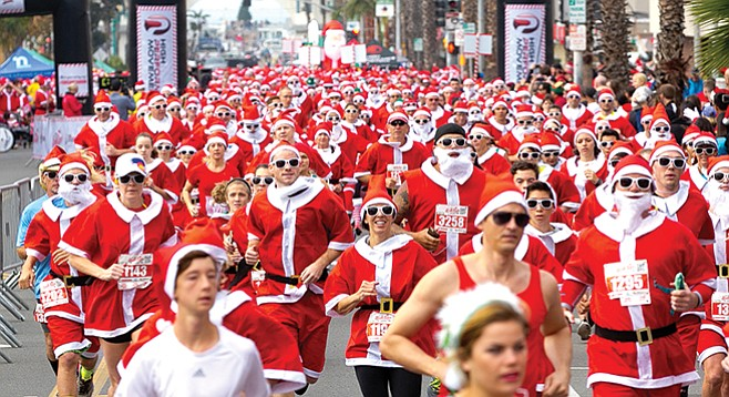 Saturday, December 9: San Diego Santa Run