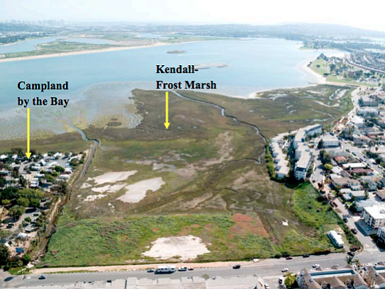 Aerial photo of Kendall-Frost marsh