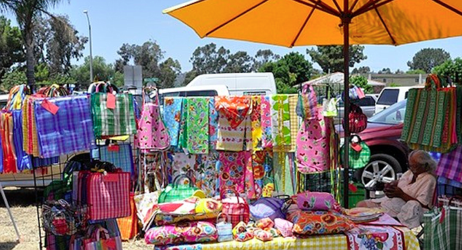 Vintage flea markets are held on the parking lot behind the Observatory.