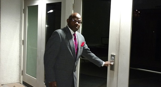 Pastor Jared Moten found himself alone and locked out when a scheduled Peace Resource Center meeting was abruptly canceled December 7