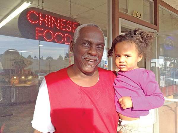 "W.C. and Zaire. ""My daughter had 17 kids. You never get lonely in our family."""