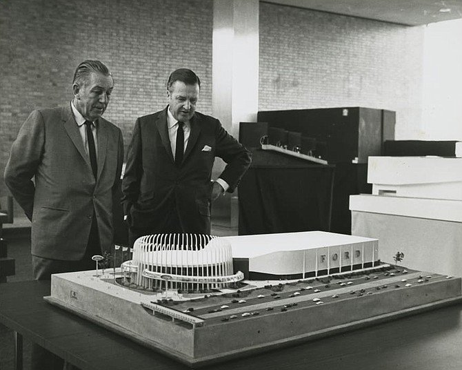 Ford San Marcos >> Walt Disney and Henry Ford II in 1962 viewing model of ...