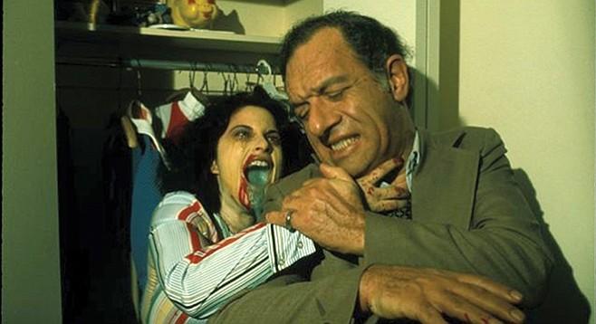 Rabid. Massacre at a Santa Claus booth makes it a strange Christmas movie.