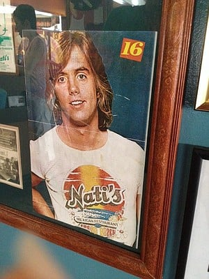 Most can't help notice this photo of 1970s teen heartthrob Shaun Cassidy in the front display case filled with old Nati's photos and menus. (courtesy: Michele Martinson)