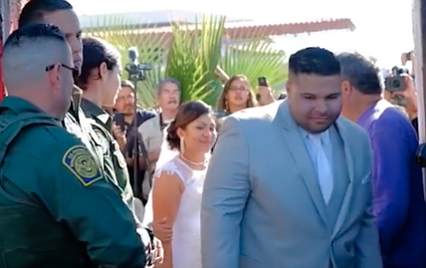 Brian Houston, just married, makes his way back into the U.S.A. He faces sentencing in January for smuggling 130 pounds of meth, coke, and heroin.